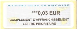 France Lisa Complément D'affranchissement ( 0,03€) - 2000 «Avions En Papier»