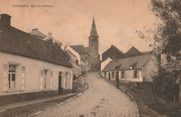HORRUES - RUE DU PONTAIN ( PONTIN ) ANIMEE / Edit. A. Delhaye / Voyagée 1933 - Soignies