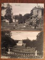 2 CPA, VILLA VERITAS, SEINE Et Marne, Avon, Fontainebleau?, éd Ménard, 1913, Cachet Fontainebleau (77),timbre - France