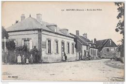 BROYES - Ecole Des Filles (vue Animée, Enfants) - France