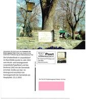 1535m: Privatganzsache AK Postkarten-App: A- 2285 Leopoldsdorf Im Marchfelde, Schubertlinde Am Hauptplatz - Gänserndorf