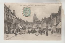 CPA AUBIGNY SUR NERE (Cher) - Rue Du Prieuré Et L'Eglise - Aubigny Sur Nere