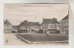 CPA AUBIGNY SUR NERE (Cher) - Place Du Marché Côté Sud - Aubigny Sur Nere