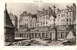 ANCIEN PARIS - LE CHARNIER DES INNOCENTS QUI SE TROUVAIT A L'EMPLACEMENT DU SQUARE EXISTANT ACTUELLEMENT - Notre Dame De Paris