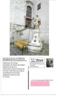 1535c: Privatganzsache AK Postkarten-App: A- 2410 Hainburg An Der Donau, Statue Des Hl. Nepomuk - Bruck An Der Leitha