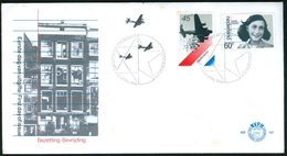 NETHERLAND Nº 1158-9  -  ANNE FRANK - LIBERATION   FDC Nº E182 -  1980 - Period 1980-... (Beatrix)