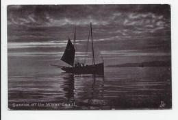 Sunset Off The Manx Coast. - Tuck Silverette 1736 - Isle Of Man