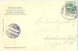 ALLEMAGNE TàD FERROVIAIRE  CÖLN (RHEIN) - HANNOVER  BAHNPOST 3.05.05 CP Pour MONTIGNY ( KR. METZ) - Germania
