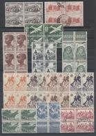 AOF Lot De Valeurs Courantes Obl. En Bande Ou Blocs De 4 Propres TB - A.O.F. (1934-1959)