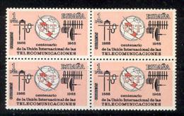 Spain 1965 - Centenario UIT Ed 1670 Bloque (**) - 1961-70 Nuevos & Fijasellos