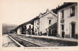 Lac-ou-Villers  (doubs) La Gare  Circulé Dans Une Enveloppe - Autres Communes