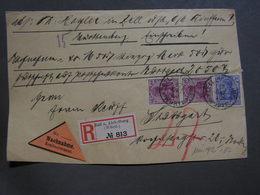 Germania Front Part Only Nachnahmen Aus Zell U. Aichelberg 1920 - Allemagne