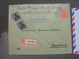 Germania Cv. Haren Emas Nach Osnabrück 1921 - Briefe U. Dokumente