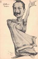 ILLUSTRATION ORENS 1902 GUILLAUME COMEDIEN CARICATURE DU KAISER PAS CIRCULEE - Orens