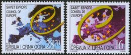 Serbia And Montenegro (Yugoslavia) 2003 Council Of Europe, MNH (**) Michel 3107-3108 - Ungebraucht