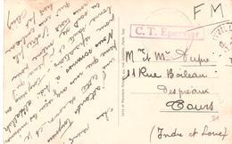 Carte De FERRYVILLE Avec Cachet Encadré C.T. EPERVIER - Postmark Collection (Covers)