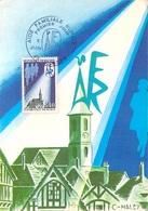 """TIMBRE FRANCE 1er JOUR De 1971 """" Aide Familiale Rurale """" Carte 1er Jour Du 5 JUIN 1971 Illustration C.HALEY - 1970-1979"""