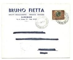 1963 - Italia - Lettera Timbro Seregno     16/13 - 1961-70: Marcophilie