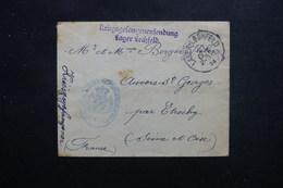 FRANCE / ALLEMAGNE - Enveloppe D'u Prisonnier De Guerre Du Camp De Lager Lechfeld Pour Etrechy En 1914 - L 48429 - Guerre De 1914-18