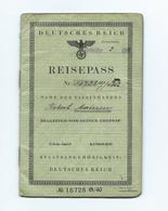 Deutscher Reisepass - 25.4.1941 - Documents Historiques