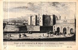 ANCIEN PARIS - LE CHATEAU DE LA BASTILLE ET LA PORTE SAINT ANTOINE VERS 1750 - Non Classés