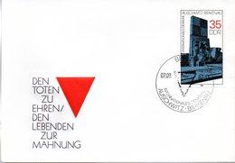"""(WK2-1) DDR Schmuck-FDC """"Denkmal In Der Mahn- Und Gedenkstätte Auschwitz-Birkenau""""  Mi.2735 ESSt 7.9.1982 BERLIN - [6] Repubblica Democratica"""
