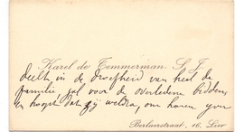 Visitekaartje - Carte Visite - Karel De Temmerman S.J. - Lier - Cartes De Visite