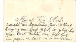 Visitekaartje - Carte Visite - Maurice Van Assche - Lebbeke - Cartes De Visite