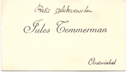 Visitekaartje - Carte Visite - Jules Temmerman - Oostwinkel - Cartes De Visite