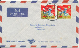 Ghana Air Mail Cover Sent To Denmark 1968 SPACE Stamps - Ghana (1957-...)
