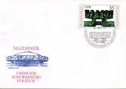 "(WK2-1) DDR Schmuck-FDC ""Mahnmal In Der Mahn- Und Gedenkstätte Majdanek (Polen)""  Mi.2538 ESSt 26.8.1980 BERLIN - [6] Repubblica Democratica"