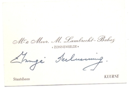 Visitekaartje - Carte Visite - Mr & Mevr M. Lambrecht - Bohez - Zonneweelde Kuurne - Cartes De Visite