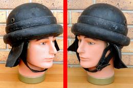 Casque Italien D'équipage De Char & Moto Type 1935 Fab. Env. 1937 Provenance Espagne - Headpieces, Headdresses