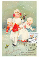 D38646 CARTE MAXIMUM CARD 2018 NETHERLANDS - WINTER SKATING CHRISTMAS - POSTMARK 24 DECEMBER CP ORIGINAL - Hiver