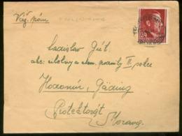 18334 Generalgouvernement  Polen Hitler Briefumschlag Tschenstochau Radom - Boehmen + Maehren 1943 , Bedarfserhaltung. - Occupation 1938-45