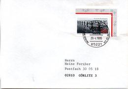 "(WK2-1) BRD Sonderstempel-Beleg ""50 Jahre Befreiung Des KZ Dachau""  EF Mi.1768 SSt 29.4.1995 DACHAU 1 - Storia Postale"