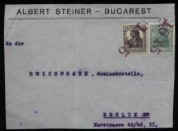 S5000 - DR Besetzung Rumänien ,Briefvorderseite : Gebraucht 16 X 5 Stempel Bukarest - Reichsbank Berlin 1917, Bedarfse - Occupation 1914-18