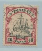 Deutsche Kolonien Togo Nr. 13 Gestempelt Signiert Gentzsch. - Colony: Togo