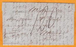 1833 - Lettre Pliée Avec Correspondance De Sourabaya, Java, Indes Néerlandaises Vers Utrecht, Hollande - Taxe 120 !!! - Nederlands-Indië