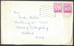 IA82    Belgium 1969 Cover Temse To DDR - N.1069 Pair - 1953-1972 Glasses