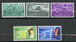 Trinité Et Tobago, Yvert 192/196**, Scott 105/109**, SG 300/304**, MNH - Trinité & Tobago (1962-...)