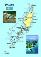 Palau Island Nation Map New Postcard Landkarte AK - Palau