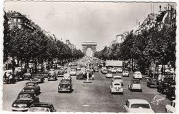 Paris: PANHARD DYNA Z, PL17, PEUGEOT 403, 203, RENAULT 4CV, CITROËN 2CV, DS, TRACTION AVANT, UNIC CAMION  Champs-Elysées - Voitures De Tourisme
