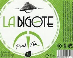 Etiket   La  Bigote - Bière