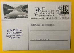 9507 - Entier Postal Illustration Davos Sommer-paradies Lausanne 7.01.1959 - Interi Postali
