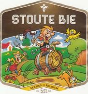 Etiket     Stoute Bie - Bière