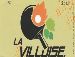Etiket     La  Villoise - Bière