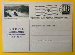 9509 - Entier Postal Illustration Neuhausen Am Rheinfall Lausanne 06.01.1958 - Interi Postali