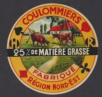 Etiquette Fromage Coulommiers   -  H.R Fabriqué Région Nord Est  -  Thème Carte à Jouer - Fromage