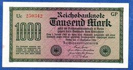 Allemagne -  1000 Mark  15 Sept 1922  - état  SUP+ - [ 3] 1918-1933 : République De Weimar